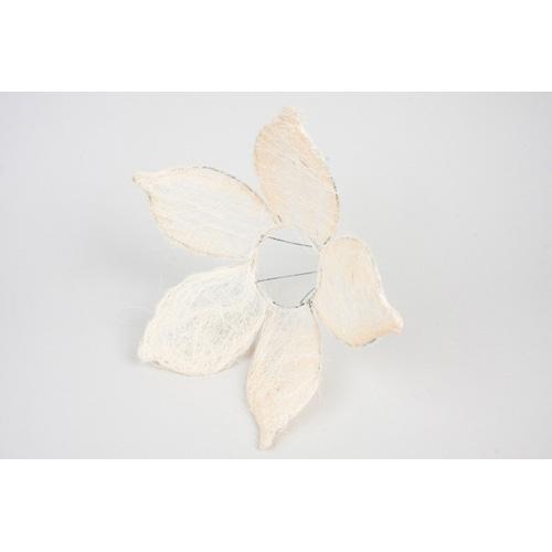 1239933235 Каркас для букета Цветок с острыми лепестками, сизаль 25см белый