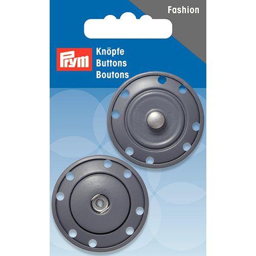 341839 Кнопки пришивные, сeрый, 35 мм, Prym