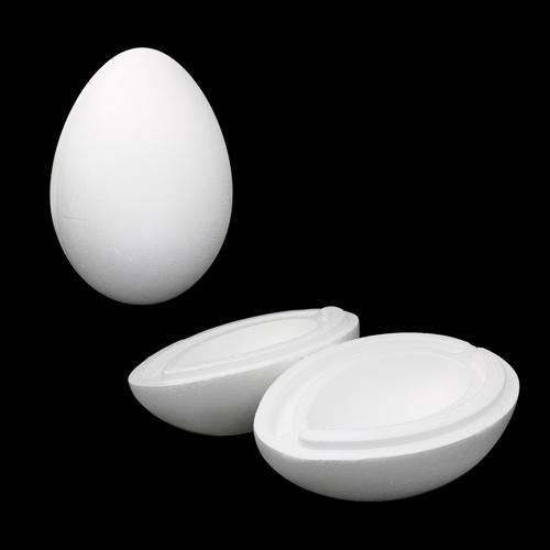 Заготовка для декорирования из пенопласта 'Яйцо', h 15,5см, d 11см (2 части)