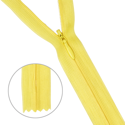 31231/20 Молния потайн. пл/мет-1 тип-3.желт.
