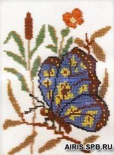 В007 Набор для вышивания бисером 'Баттерфляй'