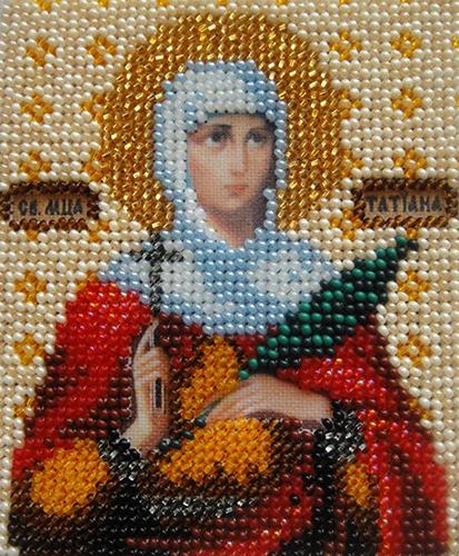 Б-1029 Набор для вышивания бисером 'Чарівна Мить' 'Икона святая мученица Татьяна', 11*9 см