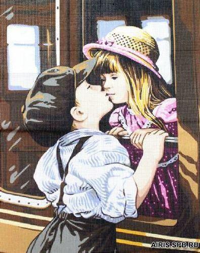 9880.0176.0006 Канва с рисунком Royal Paris 'Поцелуй' 45*65 см