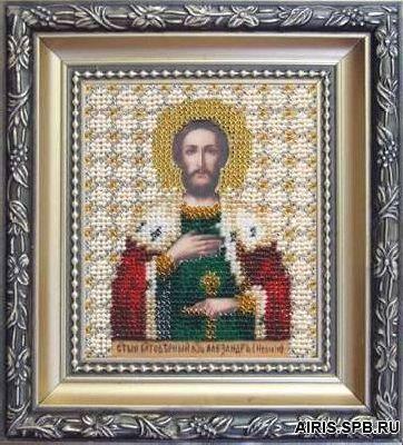 Б-1030 Набор для вышивания бисером 'Чарівна Мить' 'Икона великий князь Александр Невский', 11*9 см