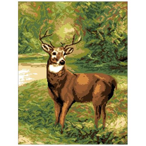 200123 Канва с рисунком ГК (Молодой олень) 40х50