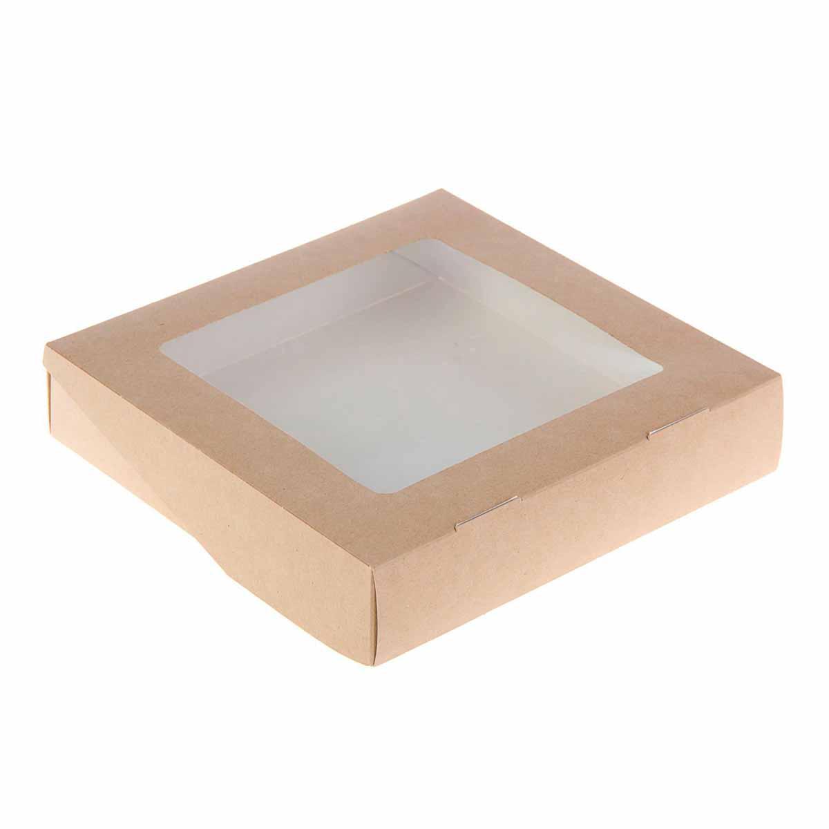 2272623 Коробка упаковочная с окном 20*20*4 см, 1,5 л