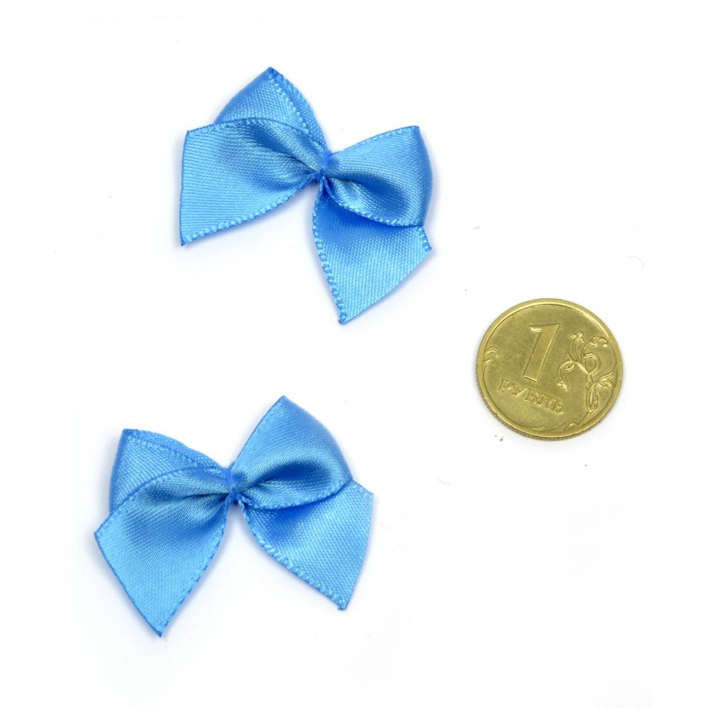 Бантики пришивные арт.MJ.RF.072.14 1,5см цв.14 голубой уп.1000шт, MJRF07214