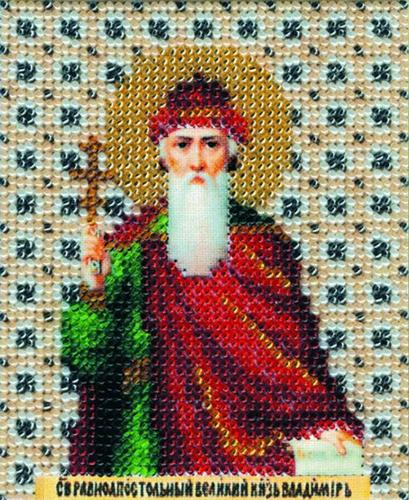 Б-1036 Набор для вышивания бисером 'Чарівна Мить' 'Икона св. равноапостальный князь Владимир', 11*9 см