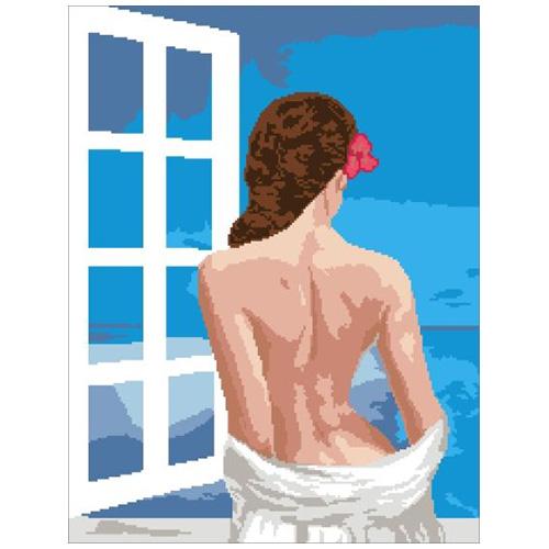 200130 Канва с рисунком ГК (Девушка) 40х50