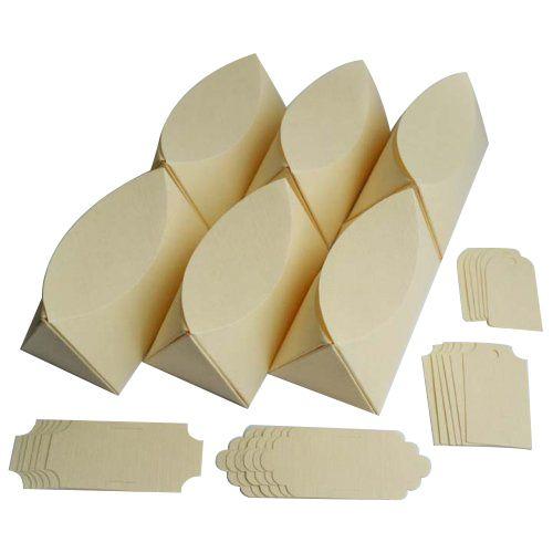 БОН100 Заготовки для бонбоньерок №1, комплект 6 шт., 8,7*4,3*5 см