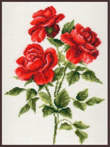 01.009 Набор для вышивания 'Палитра' 'Три розы', 20х27см