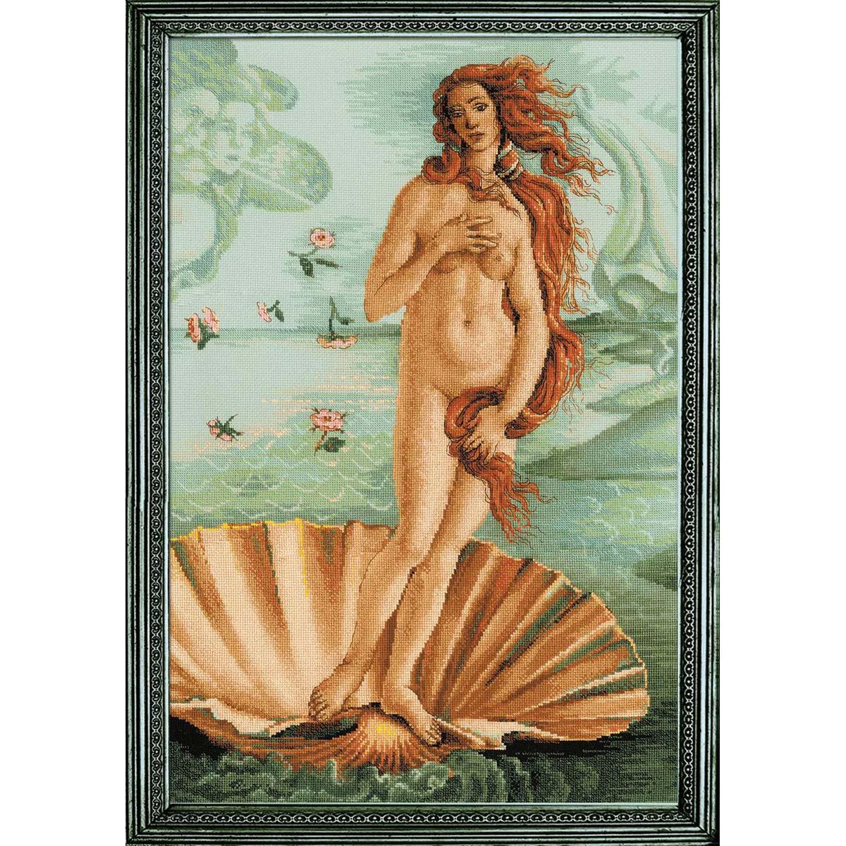 100/062 Набор для вышивания Риолис 'Рождение Венеры' по мотивам картины С. Боттичелли' 40*60 см