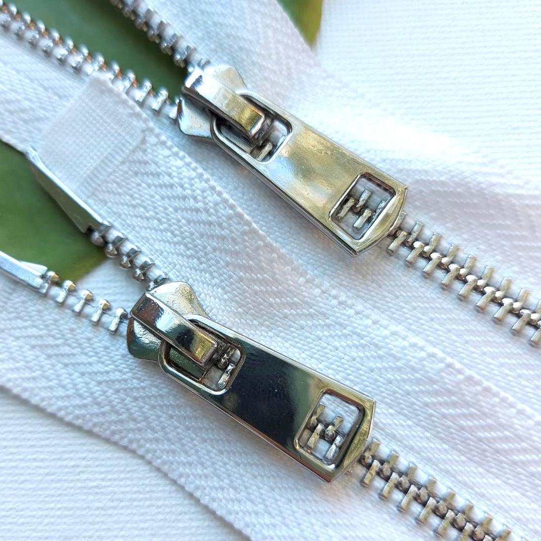 Молния металл №5ТТ никель два замка 95см D030 белый, 2002001723009