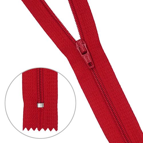 30103 Молния пластиковая красн тип-3 авт 20см