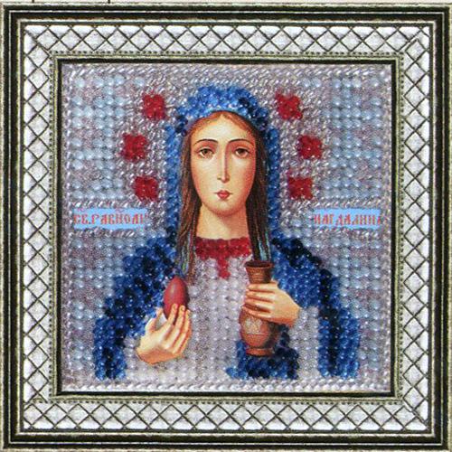 062ПМИ Набор для вышивания бисером 'Вышивальная мозаика' Икона 'Св. Равноп. Мария Магдалина', 6,5*6,5 см