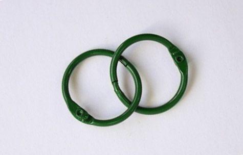 SCB 2504730 Кольца для альбомов, зеленые, 30 мм, упак./2 шт.