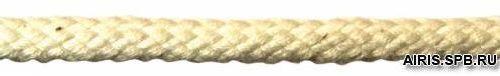 С223 Шнур плетеный хб, 6мм*50м, цв. суровый (Мн)