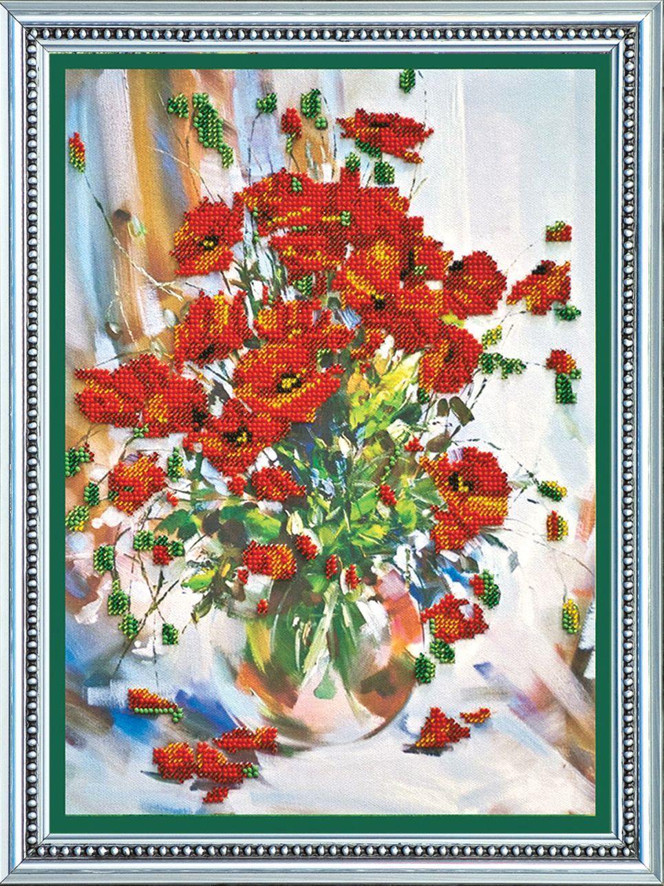 АВ-009 Набор для вышивания бисером 'Абрис Арт' 'Маки', 25,5*35 см