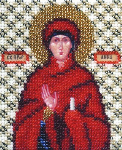 Б-1056 Набор для вышивания бисером 'Чарівна Мить' 'Икона пророчица Анна', 11*9 см