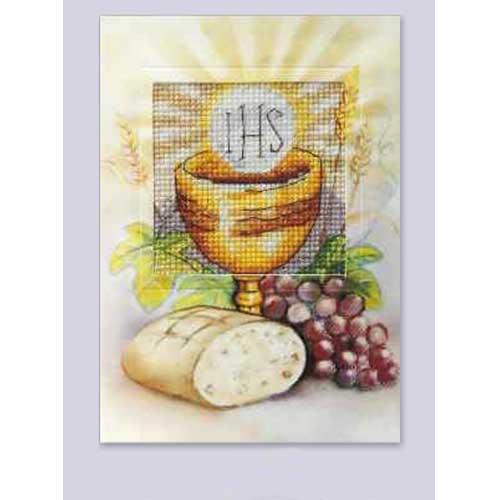 6222 ORCHIDEA Набор для вышивания открытка 10,5х15 см