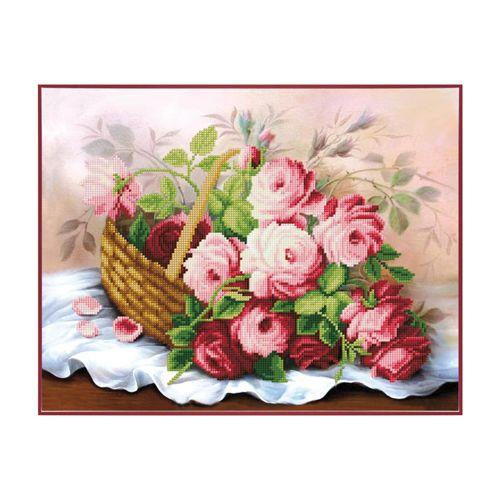 Б-753 Набор для вышивания бисером 'Чарівна Мить' 'Корзина цветов', 35*26 см