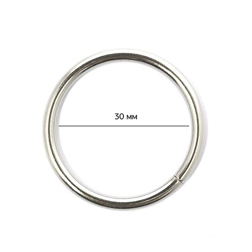Кольцо металлическое TSW 30х 3мм цв. никель уп. 100шт, TSWКОЛ303НИК100