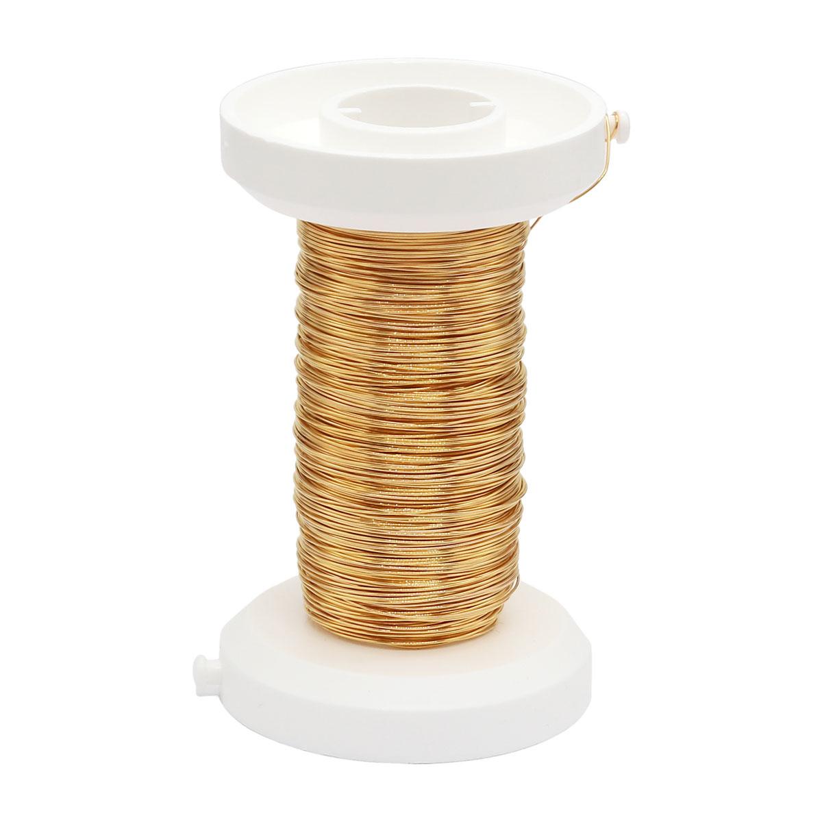 62220110 Проволока, золото (позолоченная), 0,25мм 35м Glorex