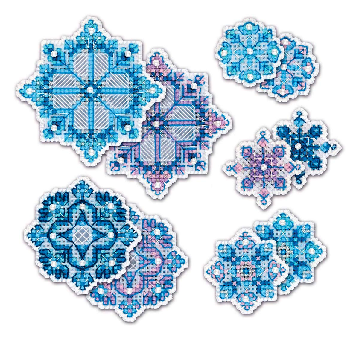1889АС Набор для вышивания Риолис 'Украшение «Снежинки'9,5*9,5см