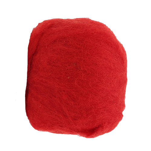 255064 Шерсть овечья для фелтинга, красный, 50 гр. Glorex