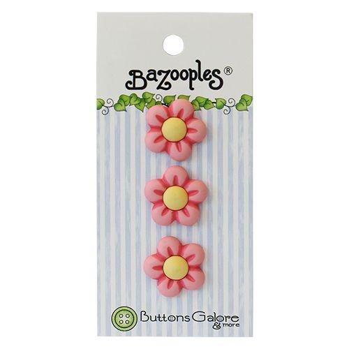 BZ132, Пуговицы. Розовые цветы