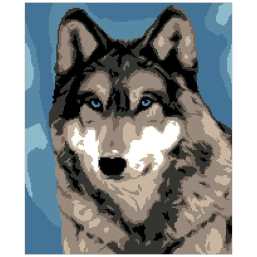 200103 Канва с рисунком ГК (Волк) 36x43