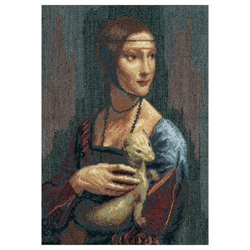 295 Набор для вышивания 'Чарівна Мить' По мотивам Леонардо да Винчи 'Дама с горностаем', 29*42,5 см