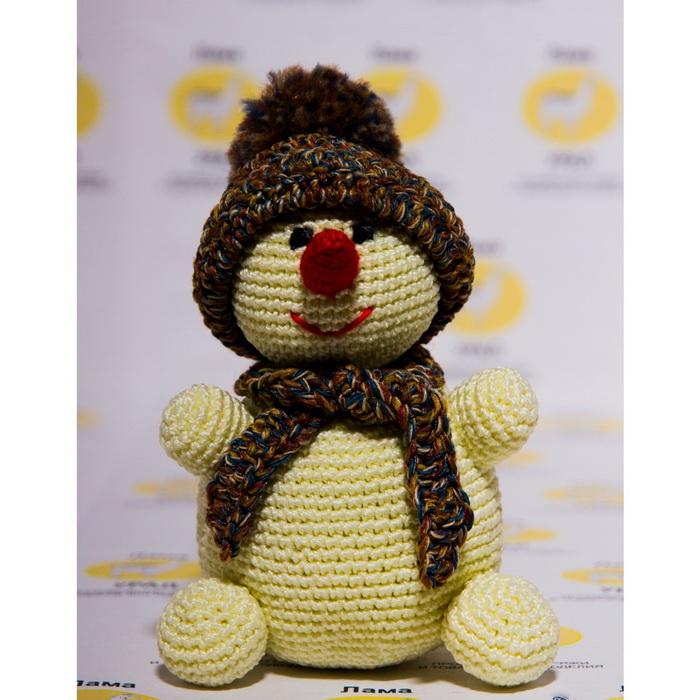 4012107 Набор для вязания игрушки 'Снеговик' 24х10 см