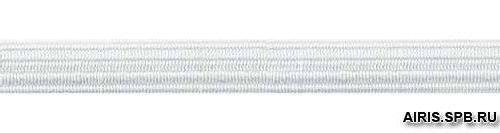С842 Тесьма эластичная 5мм белая (10*10м)