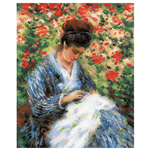 100/051 Набор для вышивания Riolis 'Мадам Моне за вышивкой', 24*30 см