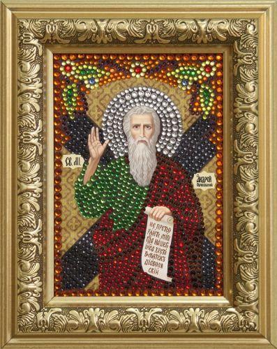0305 Набор для выкладывания стразами 'Святой апостол Андрей Первозванный' 10,5*14,8 см