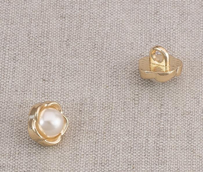 Пуговица металл ПМ61 11мм жемчуг, 2135001265023