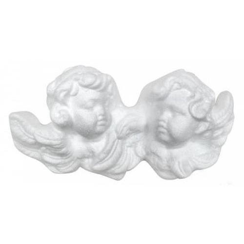 Заготовка для декорирования из пенопласта 'Розетка - Два ангела'