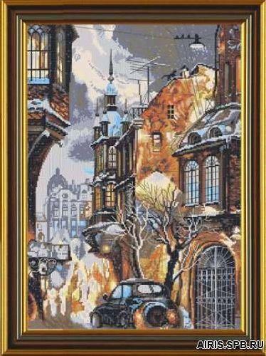 РЕ3314 Набор для вышивания 'Нова Слобода' 'Снег в городе', 28х38 см