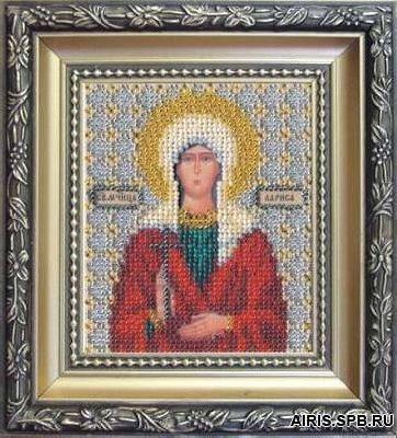 Б-1081 Набор для вышивания бисером 'Чарівна Мить' 'Икона святая мученица Лариса', 11*9 см