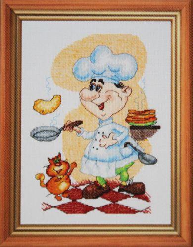 770 Набор для вышивания Hobby&Pro 'Весёлый поварёнок', 17*23 см