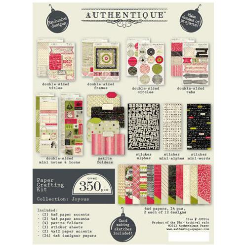 JOY014 Набор для бумажного творчества 'Authentique Joyous' 350 шт