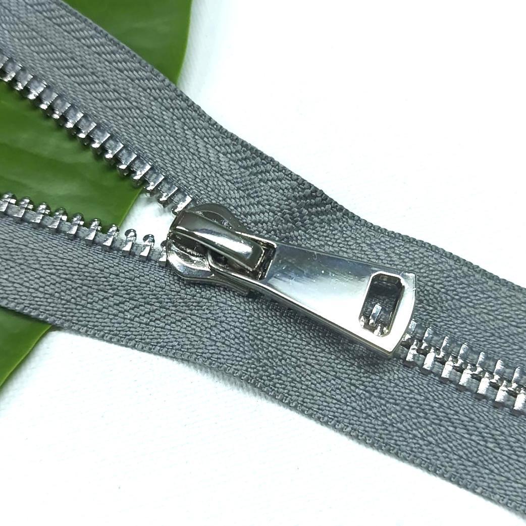 Молния металл №8ТТ никель разъём 75см D135 серый, 2002001721029