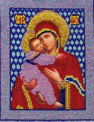 С9008 Набор для вышивания бисером 'Нова Слобода' 'Богородица Владимирская', 18x25 см