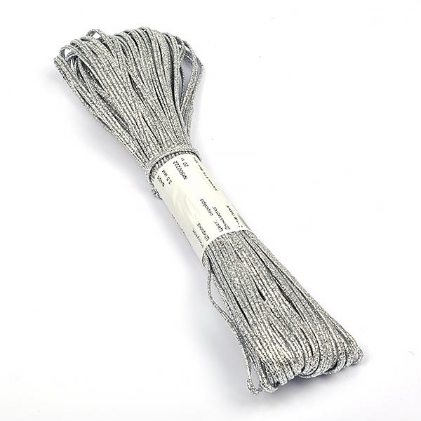 Шнур отделочный 6481 'Сутаж' 3,5мм цв.серебро уп.20м, СУТАЖ6481СРБ