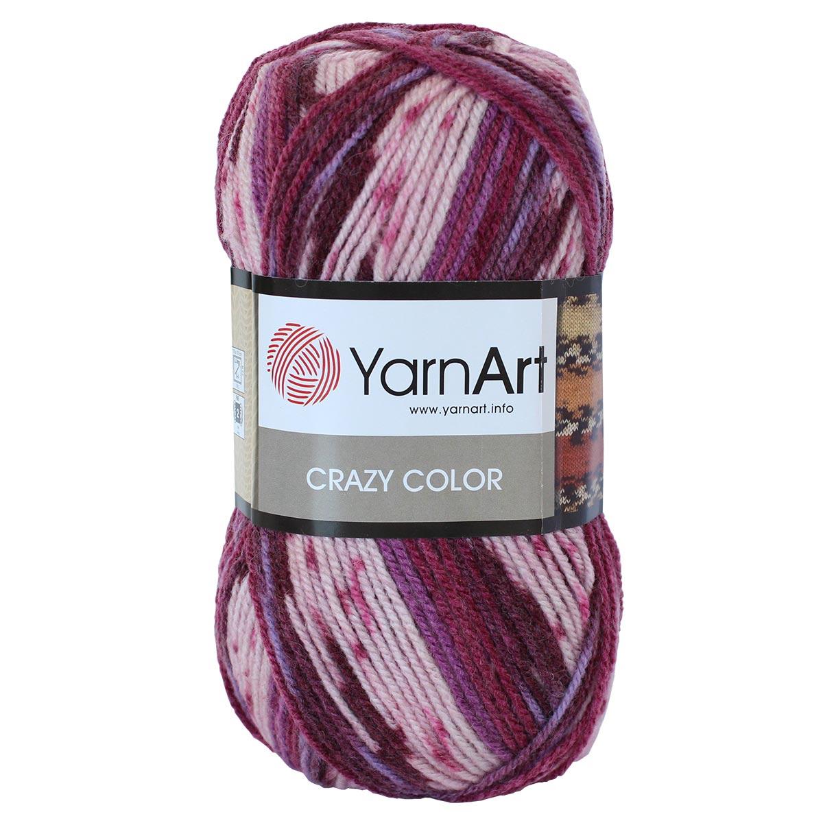 Пряжа YarnArt 'Crazy color' 100гр. 260м (25%шерсть,75%акрил)