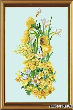Бис3004 Рисунок на канве для вышивки бисером 'Солнечный букет'