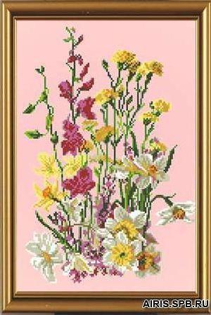 Бис3005 Рисунок на канве для вышивки бисером 'Полевые цветы'