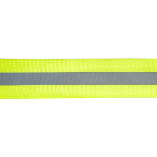 1AS-044 Лента репсовая со светоотражающей полосой 30мм/10мм*50м