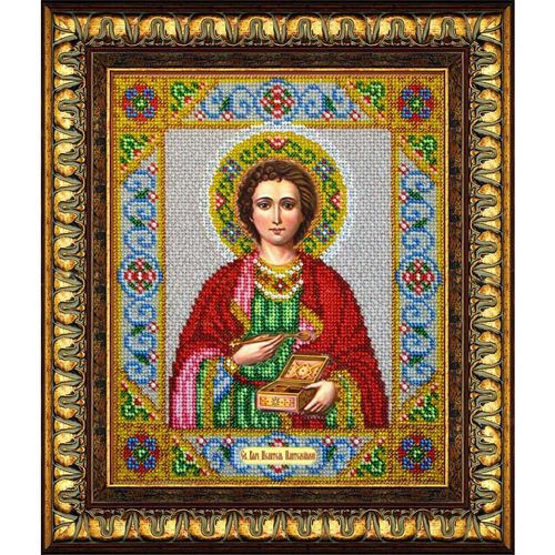 Б1018 Набор для вышивания бисером 'Паутинка' 'Св. Целитель Пантелеймон', 20*24,5 см